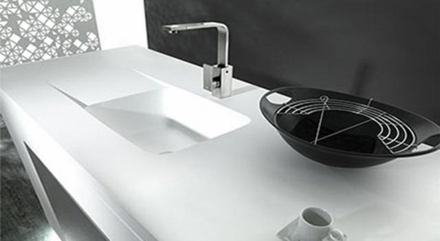 Krion by Porcelanosa: 36 componenti stampati per cucina e bagno